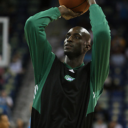 11 February 2009:  Boston Celtics forward Kevin Garnett during the shoot around prior to tip off of a NBA game between the Boston Celtics and the New Orleans Hornets at the New Orleans Arena in New Orleans, LA.