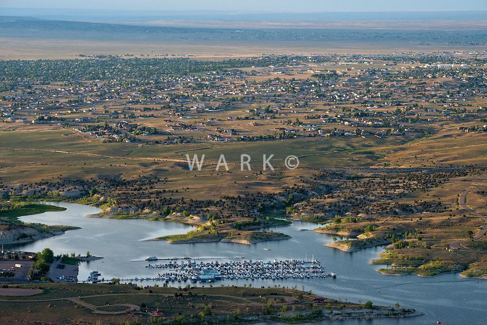 North Shore Marina at Lake Pueblo, Colorado. Pueblo West. June 2014