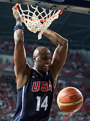 Lamar Odom of USA during the finals basketball match between National teams of Turkey and USA at 2010 FIBA World Championships on September 12, 2010 at the Sinan Erdem Dome in Istanbul, Turkey.  USA defeated Turkey 81 - 64 and became World Champion 2010. (Photo By Vid Ponikvar / Sportida.com)