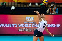 14-10-2018 JPN: World Championship Volleyball Women day 15, Nagoya<br /> China - United States of America 3-2 / Jordan Larson #10 of USA