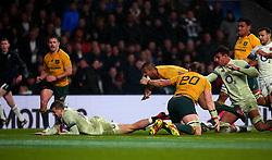 Jonny May of England scores a try - Mandatory by-line: Robbie Stephenson/JMP - 18/11/2017 - RUGBY - Twickenham Stadium - London, England - England v Australia - Old Mutual Wealth Series