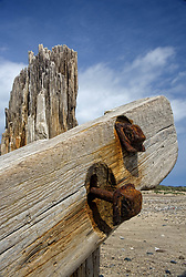 July 21, 2019 - Old Post On Beach (Credit Image: © John Short/Design Pics via ZUMA Wire)