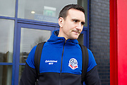 Bolton Wanderers Jack Hobbs during Before the EFL Sky Bet League 1 match between Bolton Wanderers and Wycombe Wanderers at the University of  Bolton Stadium, Bolton, England on 15 February 2020.