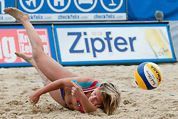 Laura Ludwig of Germany at A1 Beach Volleyball Grand Slam tournament of Swatch FIVB World Tour 2010, semifinal, on July 31, 2010 in Klagenfurt, Austria. (Photo by Matic Klansek Velej / Sportida)