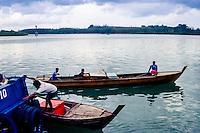 Riau Islands, Bintan. Small boats at Kijang, south Bintan.