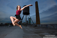 New York City Rooftop Water Tower with Ballerina Melanie Olinsky. Dance As Art- The New York Photography Project