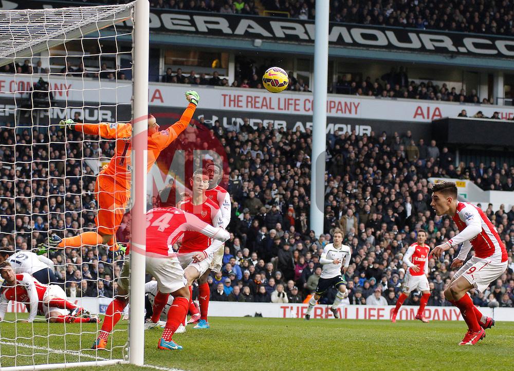 Arsenal's David Ospina makes a save - Photo mandatory by-line: Mitchell Gunn/JMP - Mobile: 07966 386802 - 07/02/2015 - SPORT - Football - London - White Hart Lane - Tottenham Hotspur v Arsenal - Barclays Premier League
