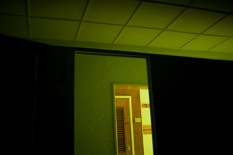 A dark office. Port Au Prince, Haiti. 2/9/2010 Photo by Ben Depp