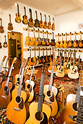 Vintage guitars for sale at Retrofret, in Brooklyn's Gowanus neighborhood.