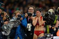 LONDON OLYMPIC GAMES 2012 - OLYMPIC STADIUM , LONDON (ENG) - 06/08/2012 - PHOTO : JULIEN CROSNIER / KMSP / DPPI<br /> ATHLETICS - WOMEN'S POLE VAULT - JENNIFER SURH (USA) / GOLD MEDAL