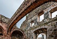 Iglesia Santo Domingo / Arco Chato Ruins facade; Casco Viejo old town, Panama City, Panama