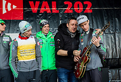 Egon Herman of Mi2 music group with Peter Prevc at VAL 202 tent after Ski Flying Hill Individual Competition at Day 4 of FIS Ski Jumping World Cup Final 2016, on March 20, 2016 in Planica, Slovenia. Photo by Vid Ponikvar / Sportida