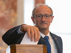 28.03.2018, Altes Landhaus, Innsbruck, AUT, konstituierende Sitzung, Tiroler Landtag, im Bild Anton Mattle (ÖVP) // during the inaugural session of the Tyrolean state parliament at the Altes Landhaus in Innsbruck, Austria on 2018/03/28. EXPA Pictures © 2018, PhotoCredit: EXPA/ Jakob Gruber