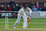 Craig Overton of Somerset batting during the Specsavers County Champ Div 1 match between Somerset County Cricket Club and Kent County Cricket Club at the Cooper Associates County Ground, Taunton, United Kingdom on 7 April 2019.