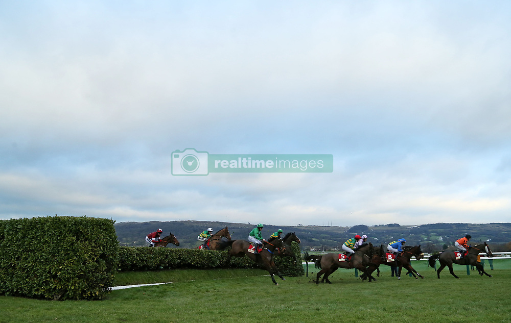 Action from The Glenfarclas Cross Country Handicap Steeple Chase during day one of The International meeting at Cheltenham Racecourse.