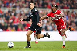 Jack Grealish of Aston Villa goes past Adama Traore of Middlesbrough - Mandatory by-line: Robbie Stephenson/JMP - 12/05/2018 - FOOTBALL - Riverside Stadium - Middlesbrough, England - Middlesbrough v Aston Villa - Sky Bet Championship