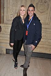 HELEN FOSPERO and ADAM JUKES at Cirque du Soleil's VIP night of Kooza held at the Royal Albert Hall, London on 8th January 2013.