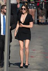 Elizabeth Olsen is seen at 'Jimmy Kimmel Live' in Los Angeles, California. NON EXCLUSIVE April 26, 2018. 26 Apr 2018 Pictured: Elizabeth Olsen. Photo credit: RB/Bauergriffin.com / MEGA TheMegaAgency.com +1 888 505 6342