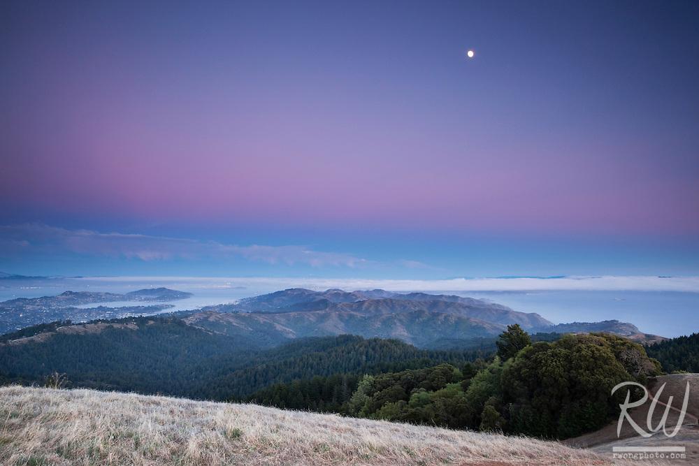 Earth Shadow Over San Francisco, Mount Tamalpais State Park, California