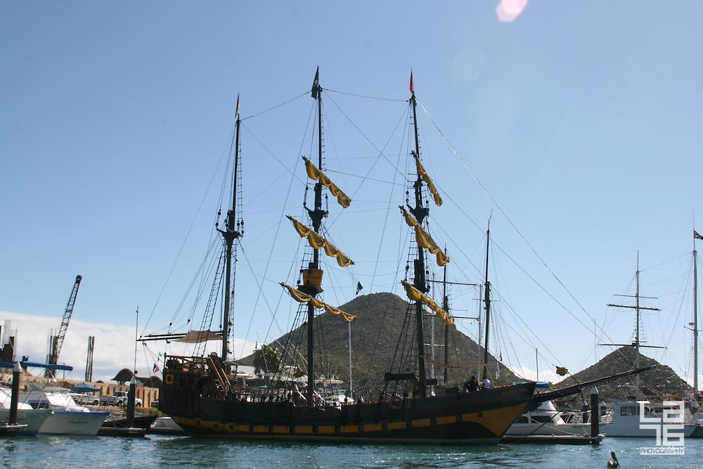 Buccaneer Queen or The Pirate Boat in Cabo San Lucas Marina, Baja California Sur, Mexico