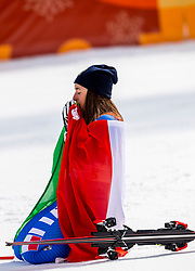 21-02-2018 KOR: Olympic Games day 12, PyeongChang<br /> Ladies Downhill at Jeongseon Alpine Centre / Gold medal for Sofia Goggia, of Italy
