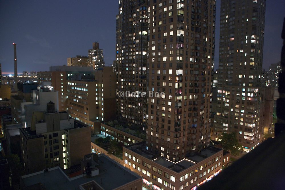 view from hotel room window of midtown Manhattan around 52nd street