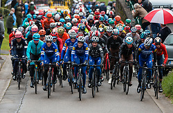 Peloton with Julian Alaphilippe (FRA) of Deceuninck - Quick Step (BEL,WT,Specialized) and Philippe Gilbert (BEL) of Deceuninck - Quick Step (BEL,WT,Specialized) at C&ocirc;te de Stockeu during the 2019 Li&egrave;ge-Bastogne-Li&egrave;ge (1.UWT) with 256 km racing from Li&egrave;ge to Li&egrave;ge, Belgium. 28th April 2019. Picture: Pim Nijland | Peloton Photos<br /> <br /> All photos usage must carry mandatory copyright credit (Peloton Photos | Pim Nijland)
