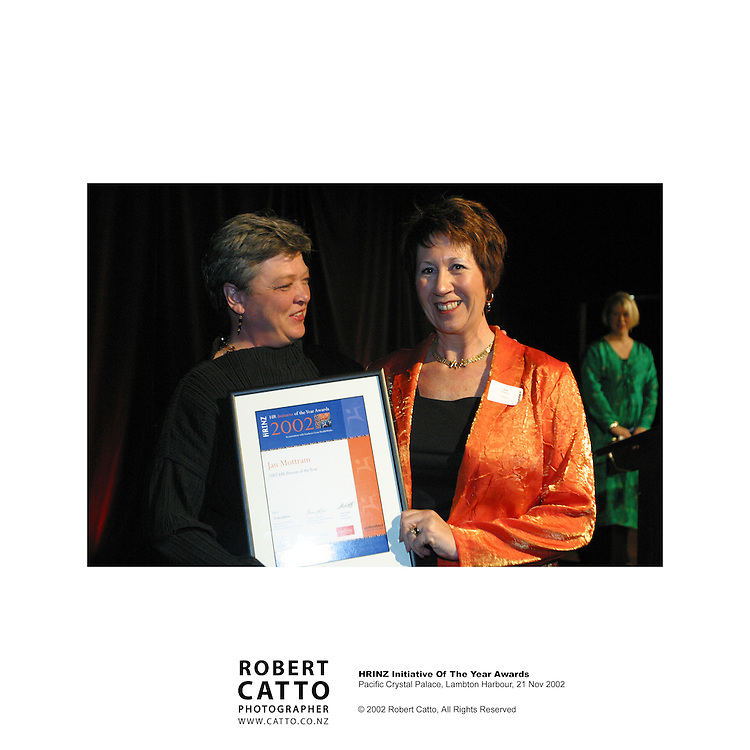 The Human Resources Institute of New Zealand's annual awards for 2001 are held at the Pacific Crystal Palace on Wellington's waterfront, in February '02.
