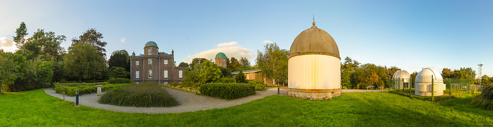 Armagh Observatory, its observing domes and the weather station off to the far right