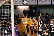 Mansfield Town forward Danny Rose (32) heads the ball just over the cross bar during the EFL Sky Bet League 2 match between Mansfield Town and Grimsby Town FC at the One Call Stadium, Mansfield, England on 4 January 2020.