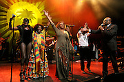 Brinsley Forde  of Aswad, Grace Jones and Prince Miller  in concert  with the I3's at the Island 50 event. 2009