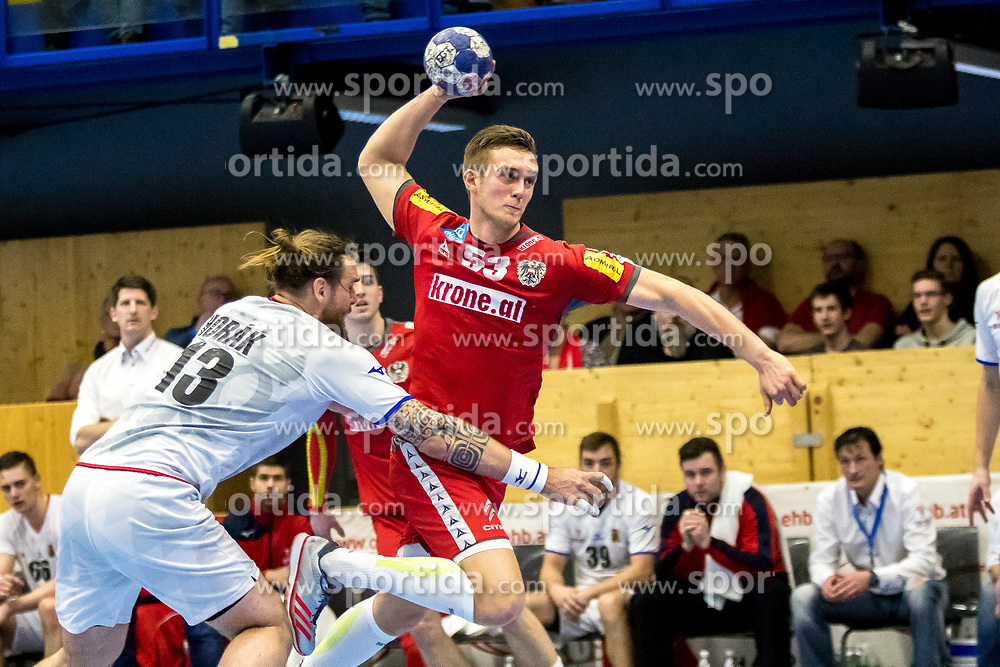 05.01.2018, BSZF Suedstadt, Maria Enzersdorf, AUT, Handball Testspiel, Österreich vs Tschechien, im Bild Nikola Bilyk (AUT) // during a men' s international friendly handball match between Austria and Czech Republic at the BSZF Suedstadt, Maria Enzersdorf, Austria on 2018/01/05, EXPA Pictures © 2017, PhotoCredit: EXPA/ Sebastian Pucher