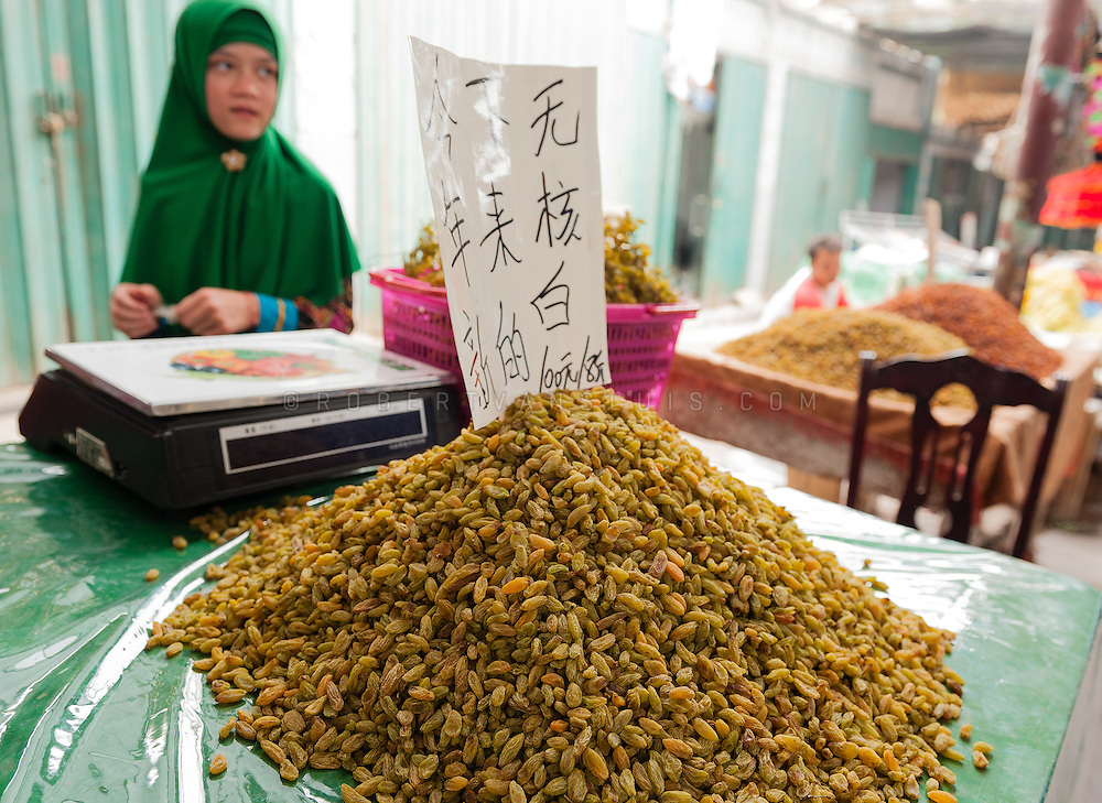 Raisins for sale at Grape Valley, Turpan, Xinjiang, China