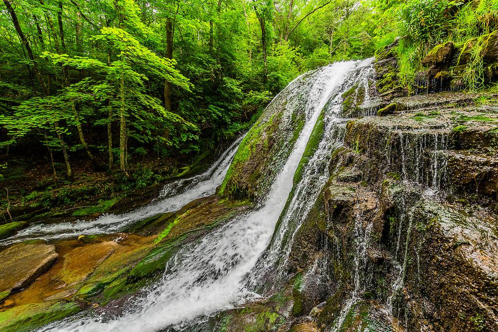 Hiking, Roaring Run Recreational Area, Botetourt County, near Roanoke, Virginia USA.