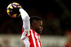 Mame Biram Diouf of Stoke City takes a throw in - Mandatory by-line: Matt McNulty/JMP - 03/01/2017 - FOOTBALL - Bet365 Stadium - Stoke-on-Trent, England - Stoke City v Watford - Premier League