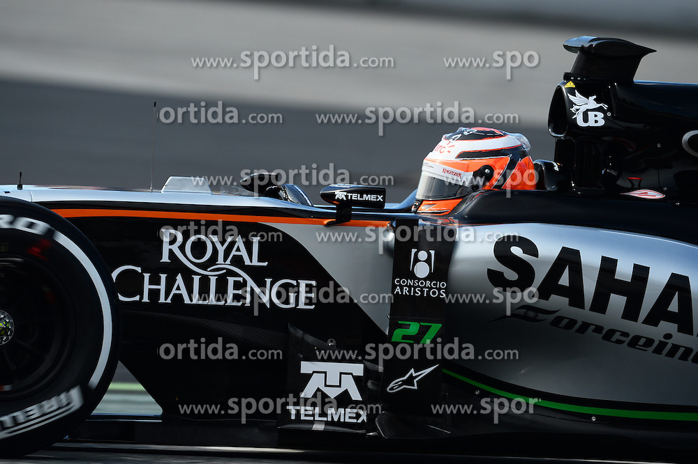 27.02.2015, Circuit de Catalunya, Barcelona, ESP, FIA, Formel 1, Testfahrten, Barcelona, Tag 2, im Bild Nico Hulkenberg (GER) Force India VJM08 // during the Formula One Testdrives, day two at the Circuit de Catalunya in Barcelona, Spain on 2015/02/27. EXPA Pictures &copy; 2015, PhotoCredit: EXPA/ Sutton Images/ Patrik Lundin Images<br /> <br /> *****ATTENTION - for AUT, SLO, CRO, SRB, BIH, MAZ only*****