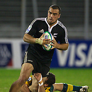 Charlie Ngatai, New Zealand, in action during the Australia V New Zealand Final match at the IRB Junior World Championships in Argentina. New Zealand won the match 62-17 at Estadio El Coloso del Parque, Rosario, Argentina,. 21st June 2010. Photo Tim Clayton..