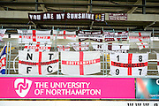 The Cobblers  Fans Banners during the Sky Bet League 2 match between Northampton Town and York City at Sixfields Stadium, Northampton, England on 6 February 2016. Photo by Dennis Goodwin.