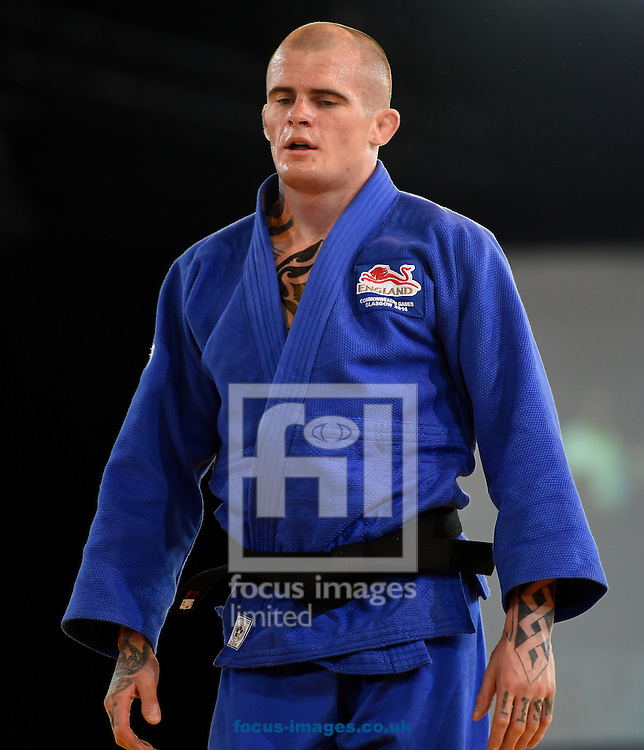 Danny Williams ENG and Connor Ireland WAL in the 73k class on day two of the judo at the  SECC Precinct, Glasgow<br /> Picture by Alan Stanford/Focus Images Ltd +44 7915 056117<br /> 25/07/2014