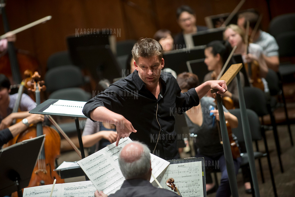 June 3, 2014 - New York, NY : As part of the NYPhil Biennial, the orchestra solicited pieces from little-known composers and will choose three to play. CREDIT: Karsten Moran for The New York Times