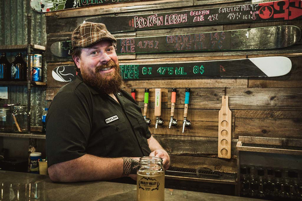 """""""What'll it be?"""" Dave Harris, owner and barkeep of Bulkley Valley Brewery, Smithers, BC."""