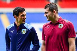 Jack Cork of Burnley and Sam Vokes of Burnley prior to kick off - Mandatory by-line: Ryan Hiscott/JMP - 30/09/2018 -  FOOTBALL - Cardiff City Stadium - Cardiff, Wales -  Cardiff City v Burnley - Premier League