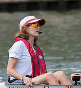 Henley, England.  Canadian, Women's eight cox Lesley THOMPSON-WILLIE,  steer's her CAN W8+ down the course, 2015 Henley Royal Regatta, Henley Reach, River Thames. 12:22:10  Sunday  05/07/2015   [Mandatory Credit. Peter SPURRIER/Intersport Images.