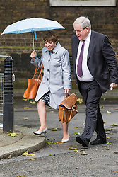 Downing Street, London, June 14th 2016. Leader of the House of Lords, Baroness Tina Stowell and Transport Secretary Patrick McLoughlin arrive at 10 Downing Street to attend the weekly cabinet meeting.