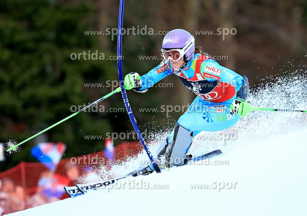 04.01.2013, Crveni Spust, Zagreb, AUT, FIS Ski Alpin Weltcup, Slalom, Damen, 1. Lauf, im Bild Tina Maze (SLO) // Tina Maze of Slovenia in action // during 1st Run of the ladies Slalom of the FIS ski alpine world cup at Crveni Spust course in Zagreb, Croatia on 2013/01/04. EXPA Pictures © 2013, PhotoCredit: EXPA/ Pixsell/ Slavko Midzor..***** ATTENTION - for AUT, SLO, SUI, ITA, FRA only *****