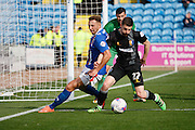 Carlisle United Forward Hallam Hope  attacks the goal during the Sky Bet League 2 match between Carlisle United and Mansfield Town at Brunton Park, Carlisle, England on 9 April 2016. Photo by Craig McAllister.