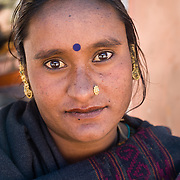 Rajasthani woman in Leh, Ladakh, India