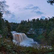 Dusk over Blackwater Falls. Pocahontas County, West Virginia.