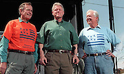Three US Presidents:Bush, Clinton and Carter.