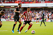 George Baldock of Sheffield United during the Premier League match between Sheffield United and Crystal Palace at Bramall Lane, Sheffield, England on 18 August 2019.